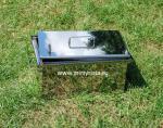 Коптильня из нержавейки 1,0 мм с гидрозатвором «Эконом» (40х30х25)-2