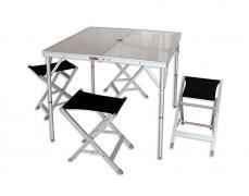 Комплект кемпинговой мебели: стол и 4 табурета World of Maverick HQ-046F