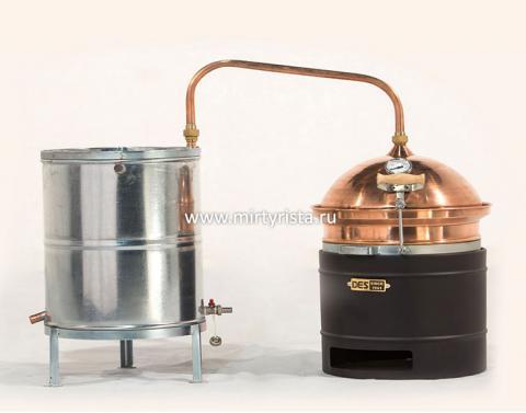 Дистиллятор медный «ХОББИ» 30л (без мешалки, газ)