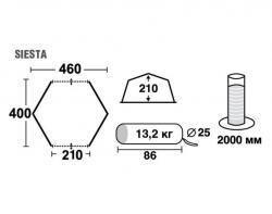 Кемпинговый тент-шатер Trek Planet Siesta (70258) -4