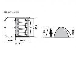 Кемпинговая палатка Trek Planet Atlanta Air 5-5