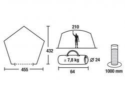Кемпинговый тент-шатер High Peak Pavillon Fasano 14048-3