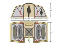 Кемпинговая палатка Alexika Indiana 4 (beige)-4