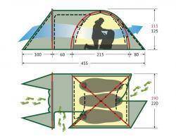 Туристическая палатка Alexika Tower 4-2