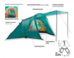 Кемпинговая палатка Greenell Монахан 4 (25563-303-00)-4