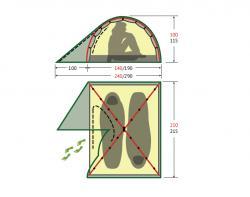 Туристическая палатка Alexika Scout 3-2