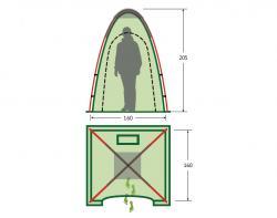Походный душ-туалет KSL Sanitary Zone Plus -2