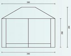 Садовый тент-шатер Campack Tent G-3401 (со стенками)-2