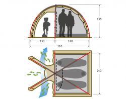 Кемпинговая палатка Alexika Minnesota 3 Luxe (green)-2