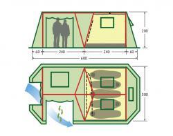 Кемпинговая палатка KSL Vega 5-2