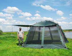 Кемпинговый тент-шатер Alexika China House ALU (sand)-3