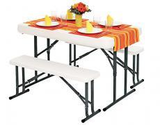 Комплект кемпинговой мебели: стол и 2 скамьи В113