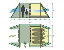 Кемпинговая палатка Alexika Apollo 4 (sand)-2
