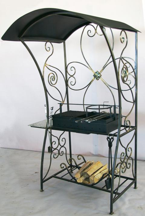 Мангал кованый с крышей «Дачный»