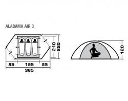 Туристическая палатка Trek Planet Alabama Air 3-5