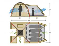 Кемпинговая палатка Alexika Nevada 4 (green)-2