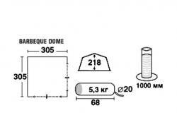 Кемпинговый тент-шатер Trek Planet Barbeque Dome (70257)-4
