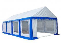 Садовый тент-шатер Митек Гросс 8х4 (в 4-х местах)-4
