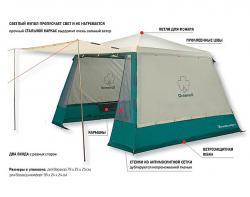 Кемпинговый тент-шатер Greenell Веранда комфорт V2 -2