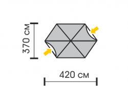 Садовый тент-шатёр Talberg Arbour-2