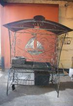 Мангал кованый с крышей «Парус»-1