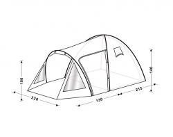 Кемпинговая палатка King Camp Weekend Fiber 3008-2