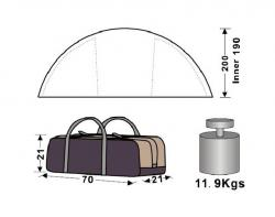Кемпинговая палатка King Camp Bari Fiber 3030-4