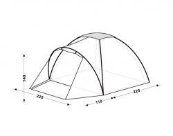 Туристическая палатка King Camp Holiday Fiber 3018-3