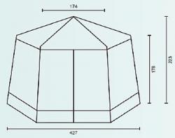 Садовый тент-шатер Campack Tent G-3601 (со стенками)-2