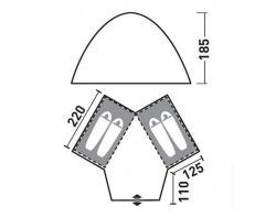 Кемпинговая палатка Greenell Монахан 4 (25563-303-00)-3
