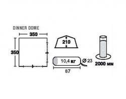 Кемпинговый тент-шатер Trek Planet Dinner Dome (70250)-2