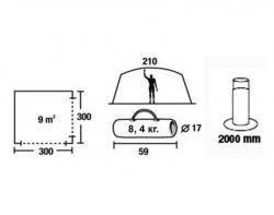 Кемпинговый тент-шатер Green Glade Lacosta-3