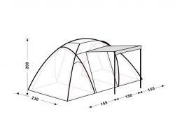 Кемпинговая палатка King Camp Bari Fiber 3030-2