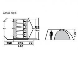 Кемпинговая палатка Trek Planet Dahab Air 5 (70236)-2