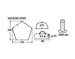 Кемпинговый тент-шатер Trek Planet Weekend Dome (70260)-3