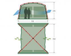 Кемпинговый тент-шатер Alexika China House ALU (sand)-2