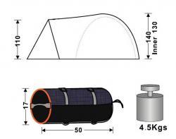 Кемпинговая палатка King Camp Weekend Fiber 3008-4