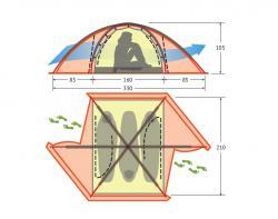 Экстремальная палатка Alexika Matrix 3-2