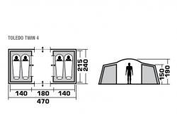 Кемпинговая палатка Trek Planet Toledo Twin 4-3