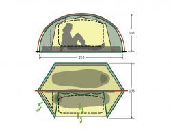 Туристическая палатка Alexika Trek 2 New-2