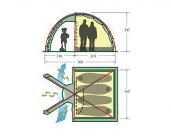Кемпинговая палатка Alexika Minnesota 4 Luxe (green)-2