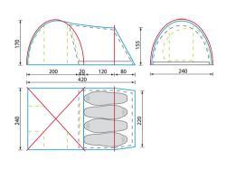 Кемпинговая палатка KSL Kanzas 4 -5
