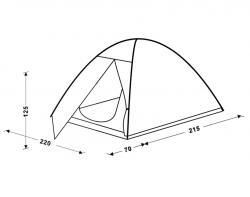 Туристическая палатка King Camp Hiker Fiber 3021-3