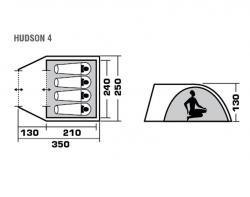 Туристическая палатка Trek Planet Hudson 4-3