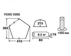 Кемпинговый тент-шатер Trek Planet Picnic Dome 70255-4